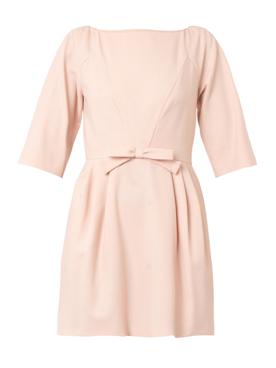 Crepe bow dress | REDValentino | MATCHESFASHION.COM