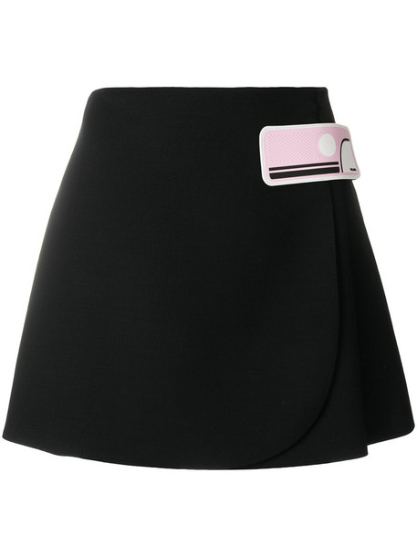 Prada skirt mini skirt mini women black silk wool