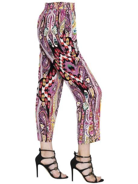 ETRO pants silk multicolor