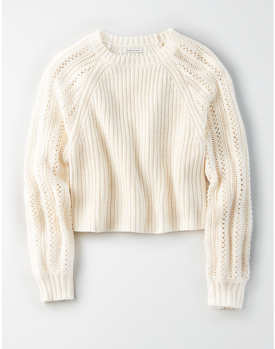 AEO Pointelle Pullover Sweater