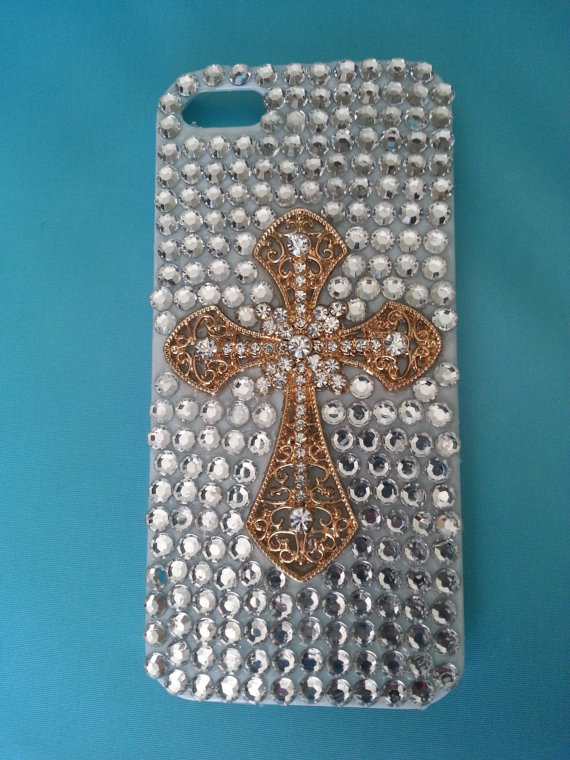 Clear Cases For Iphone 5s Gold Gold Cross Clear Gems Iphone 5