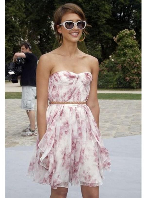 jessica alba dress sunglasses