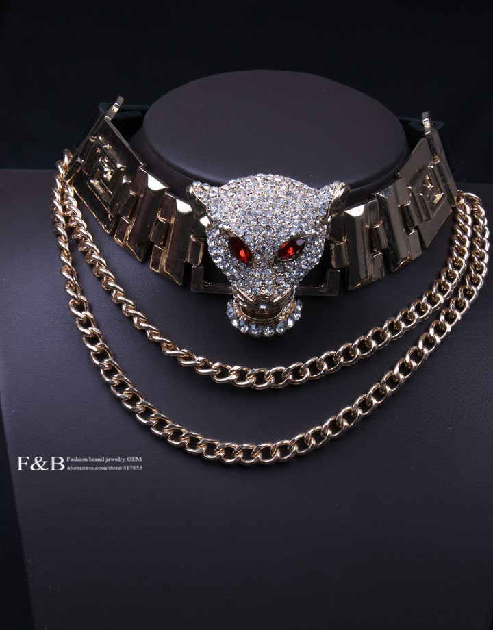 Aliexpress.com : Buy Free shipping vintage leopard necklace Clavicular chain necklace leather necklace wholesale fashion brand necklace from Reliable necklace free suppliers on Fashion brand jewelry OEM shop.