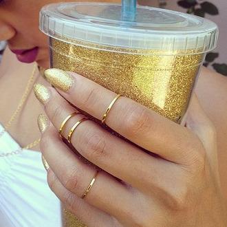 jewels midi midiring knuckle ring midis gold ring gold ring gold midi rings nail polish