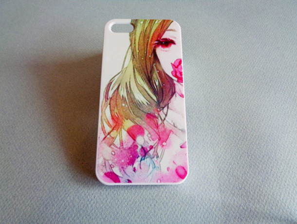 phone cover pink flowers phone cover iphone 5 case girl