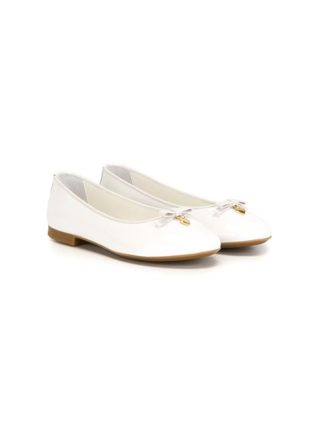 Dolce & Gabbana Kids leather white shoes