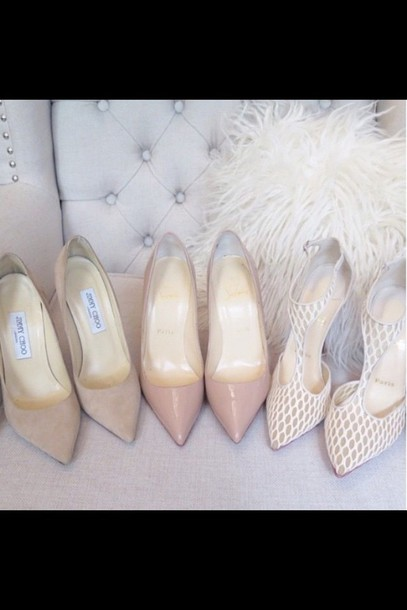 shoes white heels nude pumps bag fashion