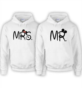 Couple Matching Mickey and Minnie Mr and Mrs 2 Sweatshirts Hoodie | eBay