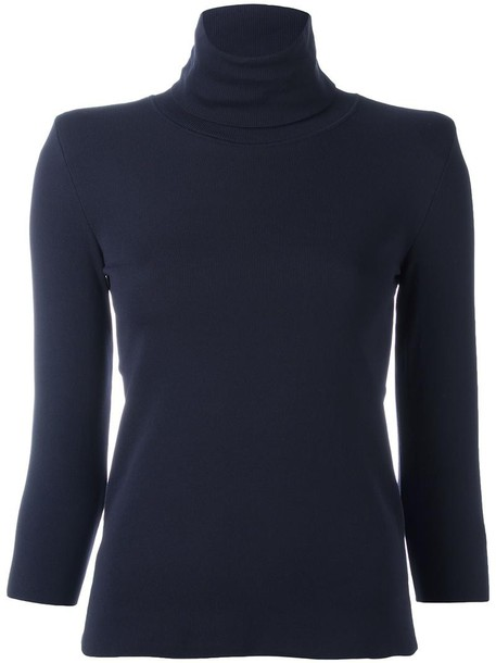 GOLDEN GOOSE DELUXE BRAND jumper women spandex blue sweater