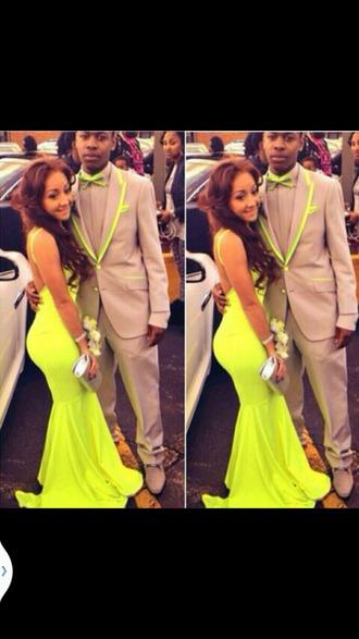 dress neon backless dress