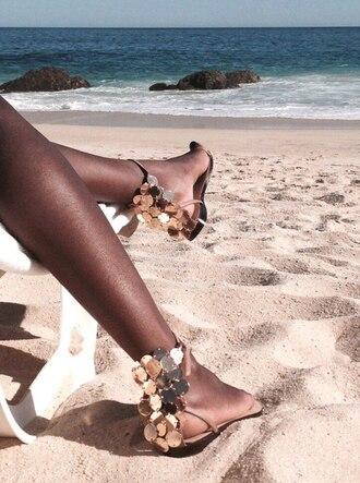 shoes sequin shoes sandals flats gold sequins shoes sequins sequin sandals gold gold sequins gold shoes gold flats gold sandals summer summer outfits