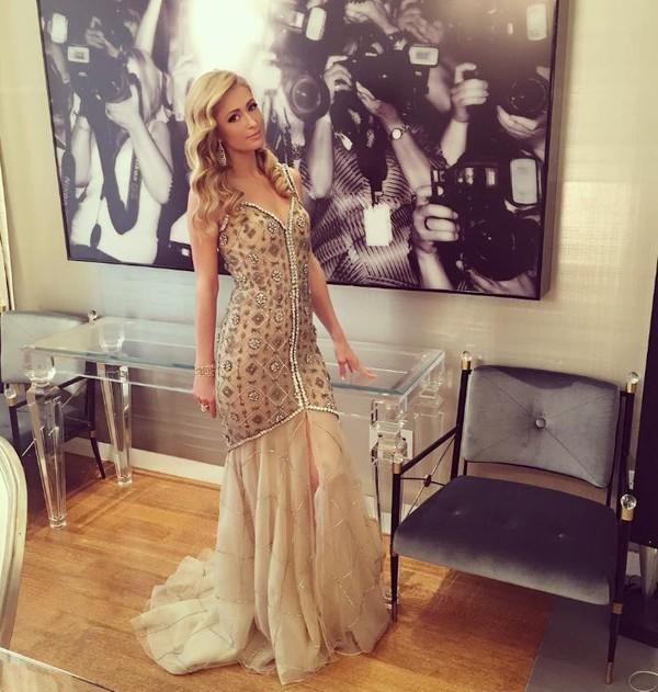 Dress gown paris hilton wedding dress long prom dress for Wedding dress instagram