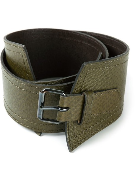 Yves Saint Laurent Vintage belt green
