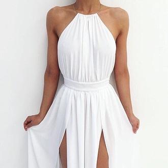 dress white white dress long dress long sleeve dress