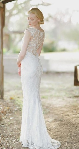 dress long white wedding dress