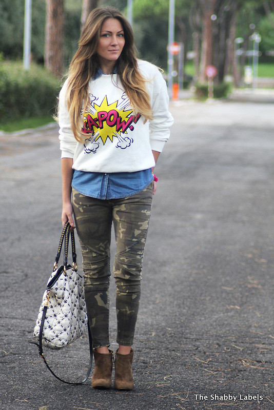 Colored Note Print Loose T-shirt - OASAP.com
