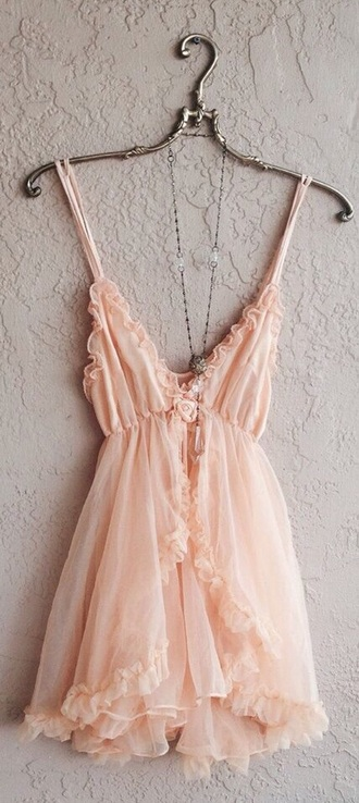 dress pink girly rose
