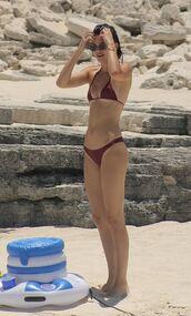 swimwear,kendall jenner,kardashians,summer,bikini,bikini top,bikini bottoms,beach,burgundy