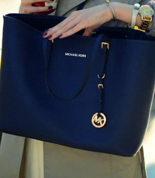 19024c18bcfb bag, blue, dark, michael kors, bag, fashion - Wheretoget