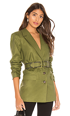 L'Academie The Thierry Blazer in Olive from Revolve.com