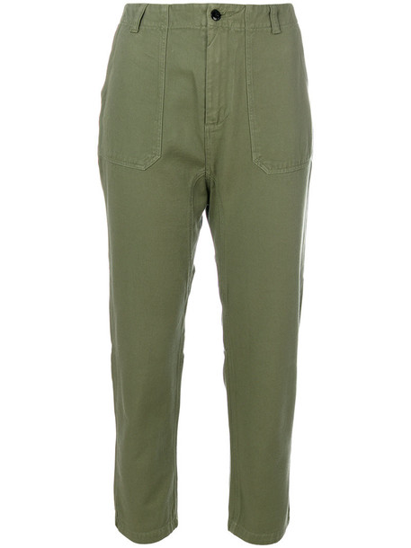 Bellerose cropped women cotton green pants