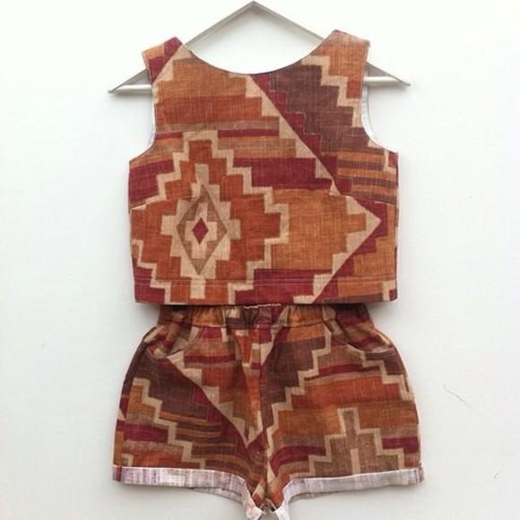ethnic jumpsuit two-piece
