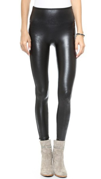 Spanx Ready To Wow Faux Leather Leggings - Black