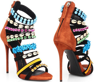 shoes ayamare aztec high heels tribal print 6 inch heels chic fashion pointed high heel with straps open toe open shoes