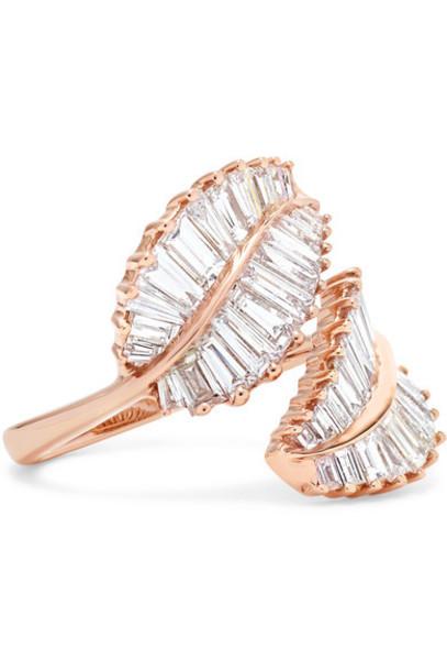 Anita Ko diamond ring rose gold rose ring gold jewels