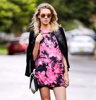 dress floral floraldress pink