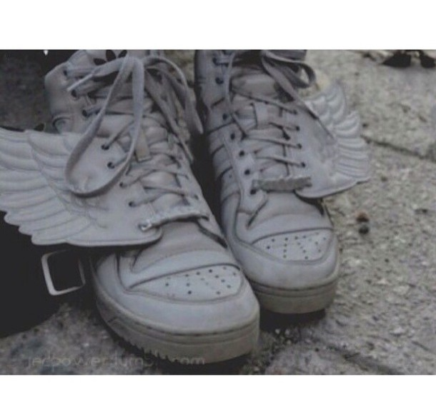 shoes wings laces angel adidas