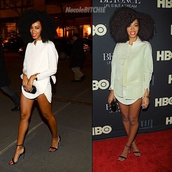shirt dress solange knowles all white