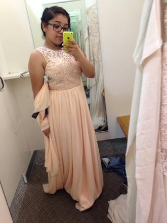 dress cinderella blushed fashion q prom dress