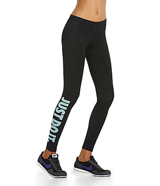 pants nike leggings just do it sportswear mint wheretoget. Black Bedroom Furniture Sets. Home Design Ideas