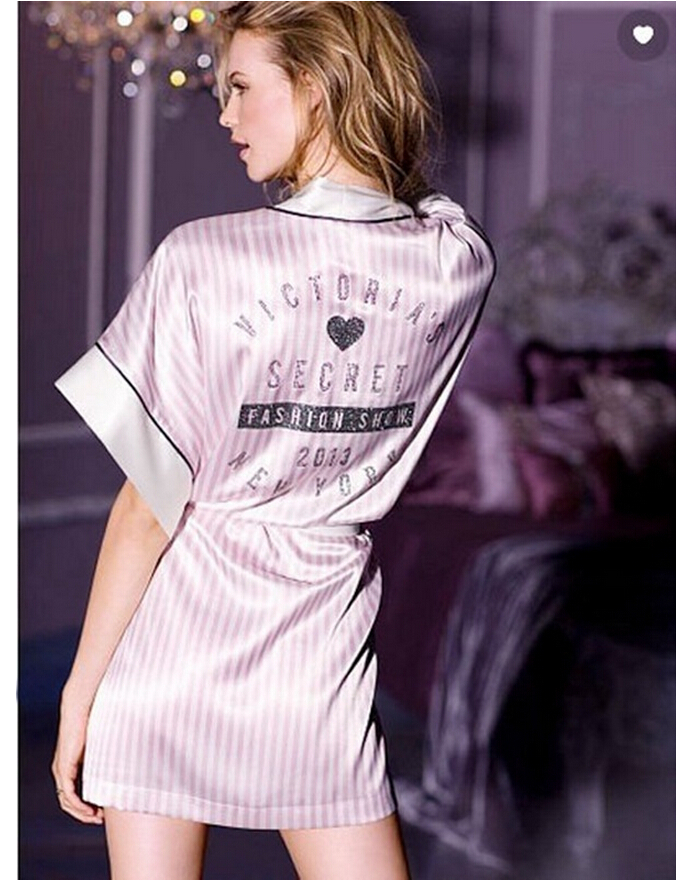 robe, pink, victoria\'s secret, runway, victoria\'s secret model ...