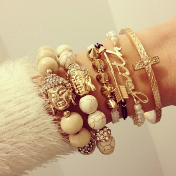 jewels jewerly bracelets gold