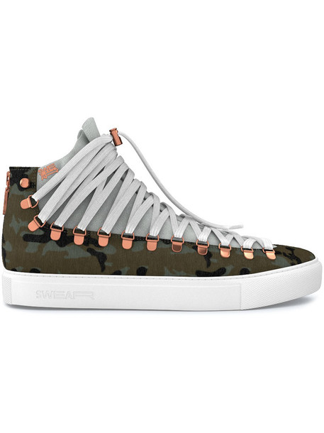SWEAR hair women sneakers leather suede green shoes
