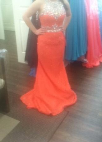 dress pink red orange salmon jewels two piece salmon dresses two piece dress set