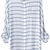 Blusa rayas solapa-blanco y azul