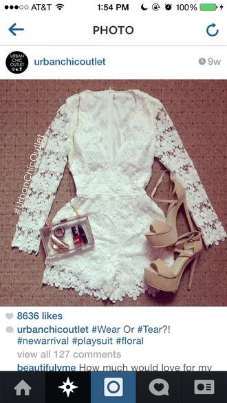 white romper white romper white jumpsuit lace white jumpsuit lace jumpsuit curvy top blouse flowy