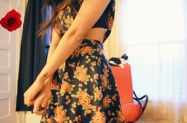 dress flowers overalls
