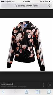 jacket,adidas floral jacket,adidas orginals,adidas firebird jacet,menswear,mens jacket,adidas jacket,black,flowers,adidas,firebird