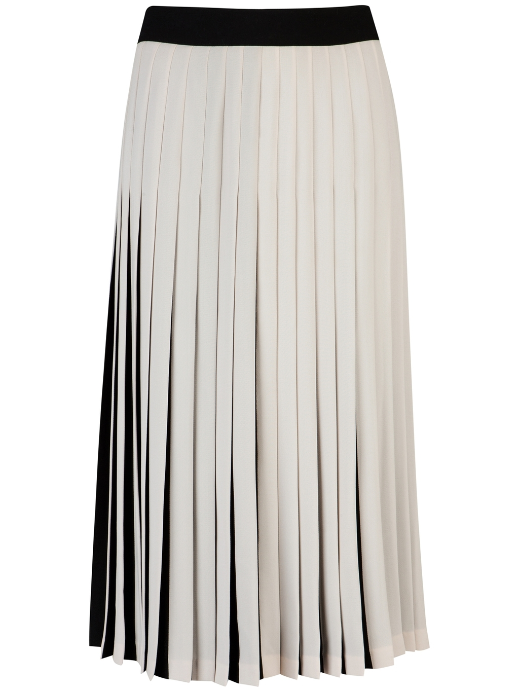 Baker: Popii Pleated Skirt, Black/Ombre (in white)