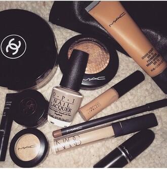 make-up mac cosmetics chanel nail polish lipstick fondation lip liner nars cosmetics highlight highligher highlighter