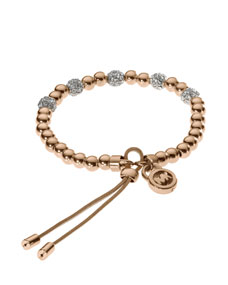 Michael Kors Bead Stretch Bracelet, Rose Golden - Michael Kors