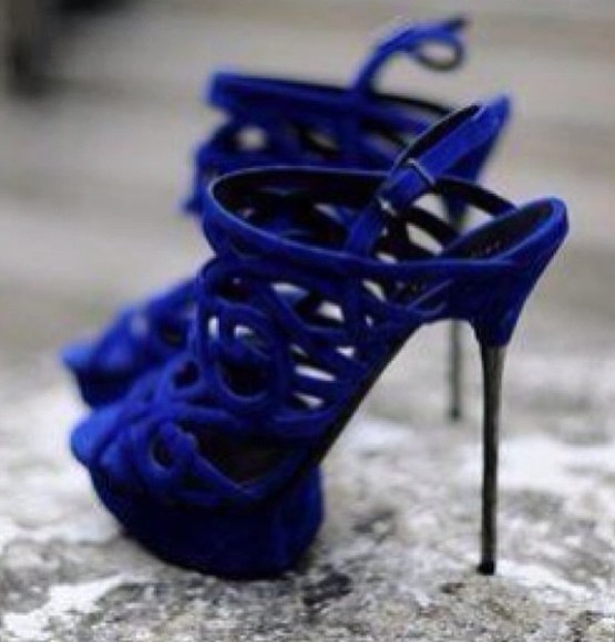 cobalt blue shoes royal blue high heels