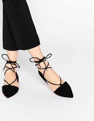 shoes pointed lace up flats lace up flats asos lace up flats strappy flats