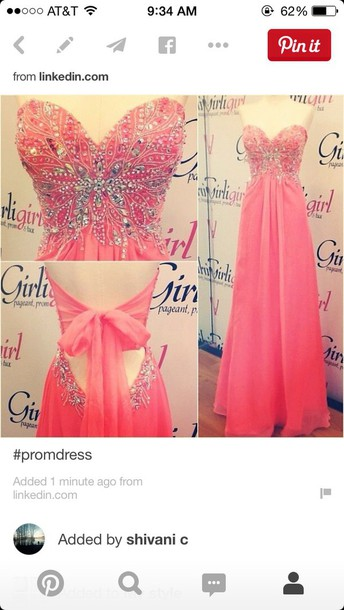 dress pink prom dress strapless bow