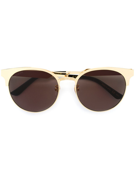 Gucci Eyewear round shaped sunglasses - Metallic