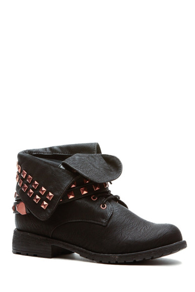 boots studded shoes studs ankle boots